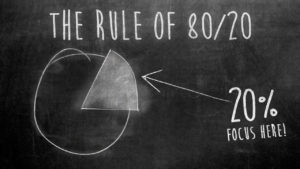 The Pareto Principle in Language Learning
