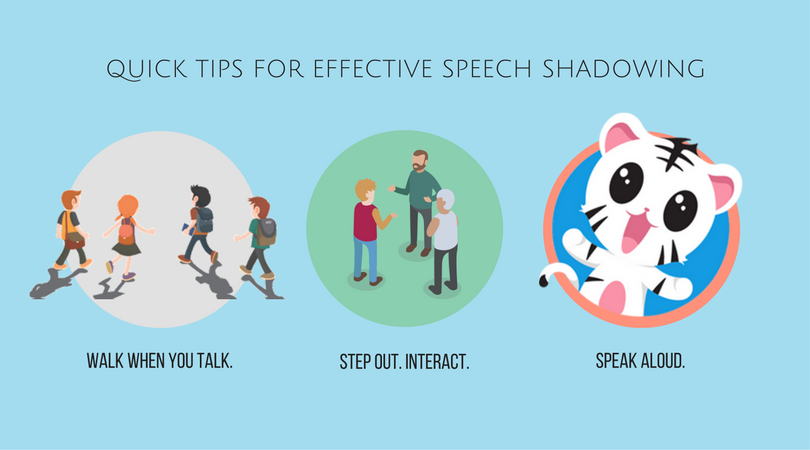 speech shadowing technique